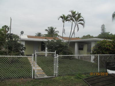 Lake Worth, Lakeworth Single Family Home For Sale: 1079 Highview Road