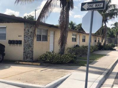 Lake Worth Multi Family Home For Sale: 531 E Street