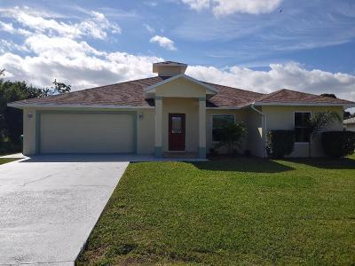 Port Saint Lucie Single Family Home For Sale: 2238 SE Carnation Road SE