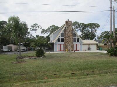 Fort Pierce Single Family Home For Sale: 5911 Sunset Boulevard