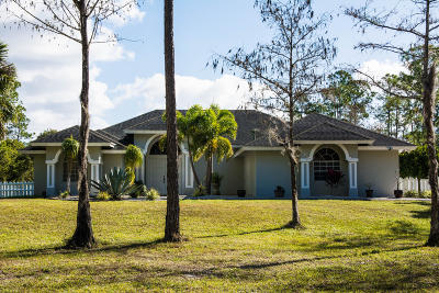 Loxahatchee Single Family Home For Sale: 2558 Palm Deer Drive
