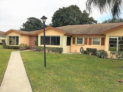 Delray Beach Single Family Home For Sale: 14348 Canalview Drive #B
