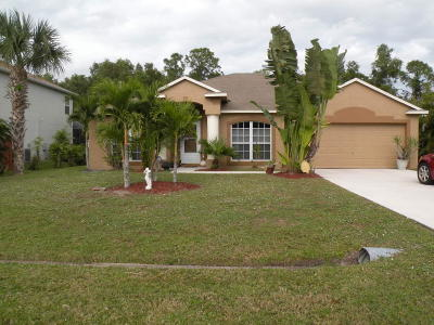 Port Saint Lucie Single Family Home For Sale: 849 SE Streamlet Avenue