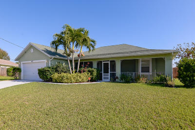 Port Saint Lucie Single Family Home For Sale: 4001 SW Winslow Street