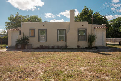 West Palm Beach Single Family Home For Sale: 3818 Greenwood Avenue