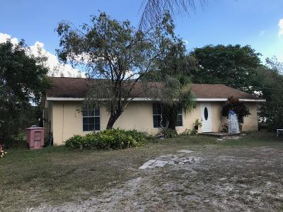 West Palm Beach Single Family Home For Sale: 4840 126th Drive
