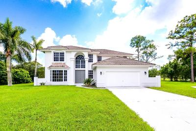 Loxahatchee Single Family Home For Sale: 15172 73rd Street