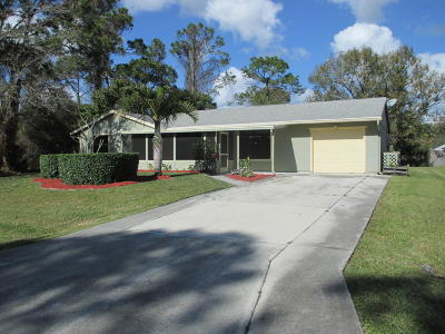 Port Saint Lucie Single Family Home For Sale: 1765 SW Commerce Avenue