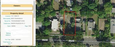 West Palm Beach Residential Lots & Land For Sale: 721 53rd Street