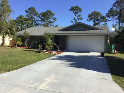 Port Saint Lucie Single Family Home For Sale: 1129 SW East Louise Circle