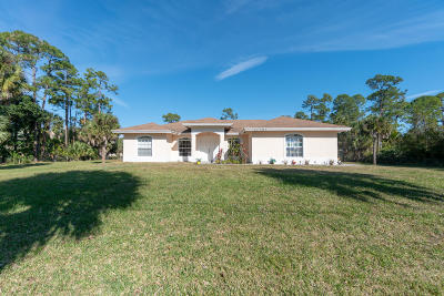 Loxahatchee Single Family Home For Sale: 17101 63rd Road