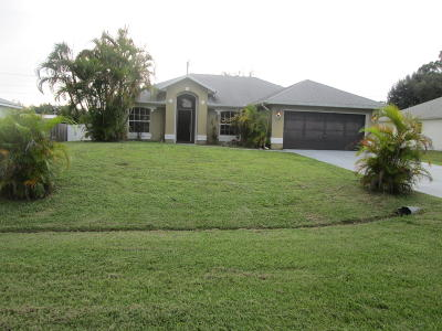 Port Saint Lucie Single Family Home For Sale: 1930 SW Glenco Street