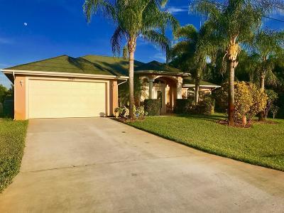 Port Saint Lucie Single Family Home For Sale: 3260 SE West Snow Road