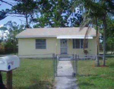 Lake Worth Single Family Home For Sale: 4263 Cambridge Street