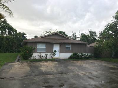 West Palm Beach FL Single Family Home For Sale: $315,000