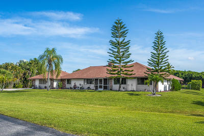 Lake Worth Single Family Home For Sale: 9281 Corral View