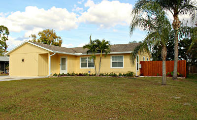 Port Saint Lucie Single Family Home For Sale: 1341 SW Heather Street