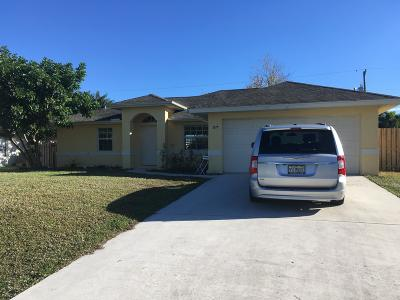 Port Saint Lucie Single Family Home For Sale: 3977 SW Laffite Street