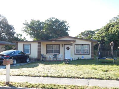 Fort Pierce Single Family Home Contingent: 2801 Avenue E