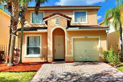 West Palm Beach Single Family Home For Sale: 4463 Lake Tahoe Circle