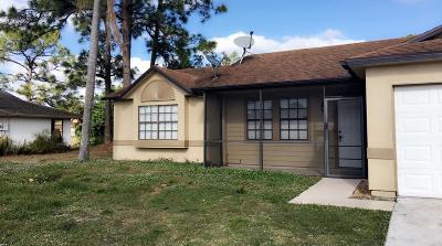 Port Saint Lucie Single Family Home For Sale: 2271 SW Susset Lane