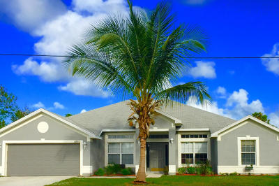 Port Saint Lucie Single Family Home For Sale: 1861 SW Hampshire Lane