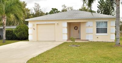 Fort Pierce Single Family Home For Sale: 187 Camino Del Rio