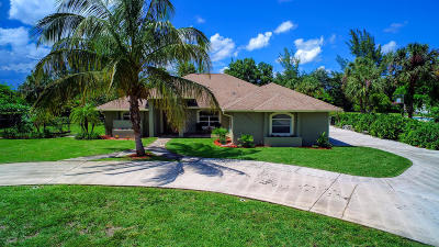 West Palm Beach Single Family Home For Sale: 6705 Wilson Road