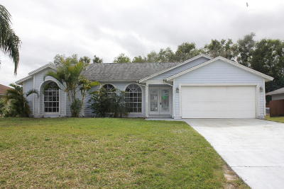 Port Saint Lucie Single Family Home For Sale: 5499 NW Manville Drive