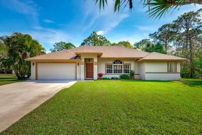 Jupiter Single Family Home For Sale: 10166 Trailwood Circle