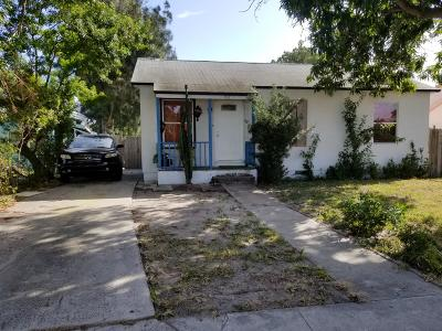 Lake Worth Single Family Home For Sale: 1118 S L Street
