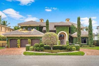 Boca Raton Single Family Home For Sale: 1544 Thatch Palm Drive