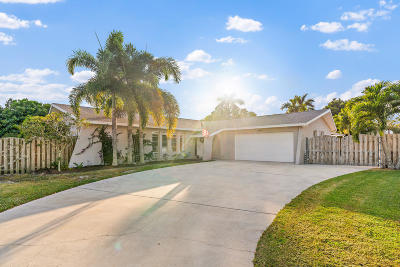 Palm Beach Gardens Single Family Home Contingent: 4454 Daffodil Circle S