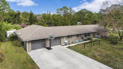 Jupiter Single Family Home For Sale: 12495 Sandy Run