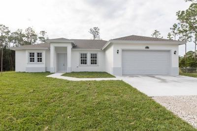 Loxahatchee Single Family Home For Sale: 18172 91st Place