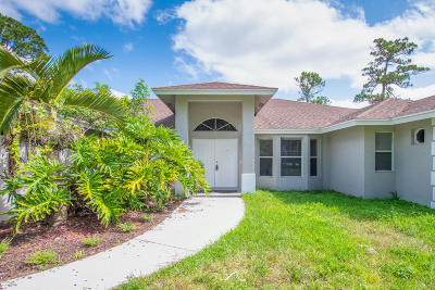 West Palm Beach Single Family Home For Sale: 15627 92nd Ct N