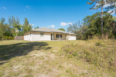 Loxahatchee Groves Single Family Home For Sale: 12823 Kazee Road