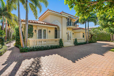 Palm Beach FL Single Family Home For Sale: $5,495,000