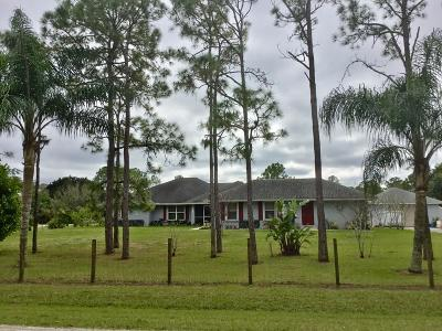 Loxahatchee Single Family Home For Sale: 16030 E Yorkshire Drive