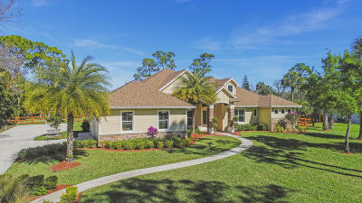 Jupiter Single Family Home For Sale: 10478 Trailwood Circle