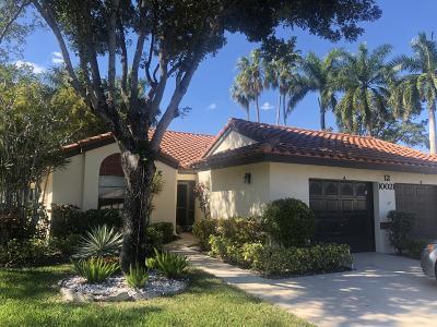 Boynton Beach Single Family Home For Sale: 10021 Andrea Lane #A