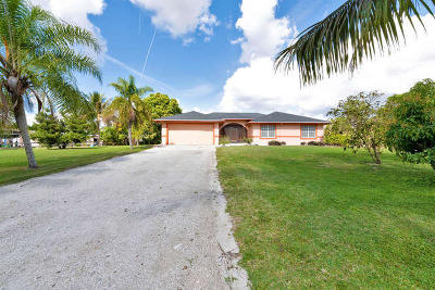 Loxahatchee Single Family Home For Sale: 17463 31st Road