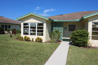 Delray Beach Single Family Home For Sale: 5265 Lakefront Boulevard #A