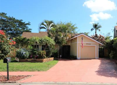 West Palm Beach Single Family Home For Sale: 4020 Brook Circle E