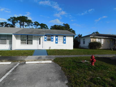 West Palm Beach Single Family Home For Sale: 932 Sumter Road E