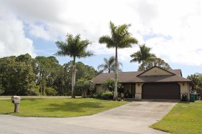 Fort Pierce Single Family Home For Sale: 6501 Kenwood Road