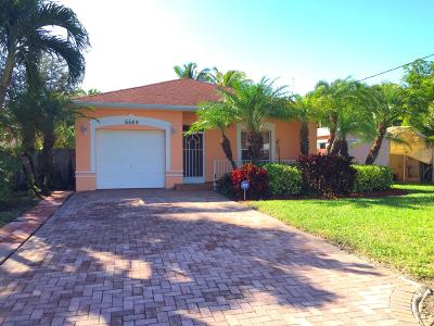 Lake Worth Single Family Home For Sale: 6549 Riparian Road