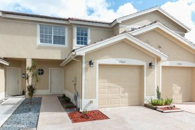 Lake Worth Townhouse For Sale: 7842 SW Sienna Springs Drive Drive SW #7842