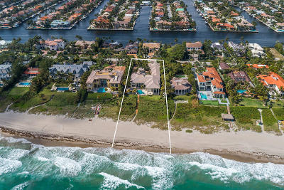 Highland Beach Single Family Home For Sale: 2435 S Ocean Boulevard