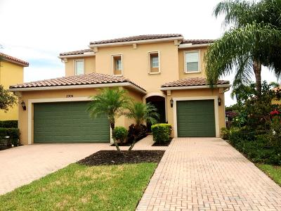 Royal Palm Beach Single Family Home For Sale: 2306 Bellarosa Circle